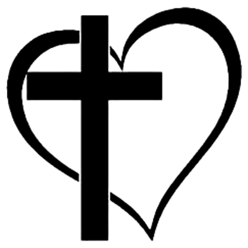 Us 1 01 40 Off 15 5cm 15 4cm Cross Heart Creative Car Styling Vinyl Stickers Decals Black Silver S3 5463 In Car Stickers From Automobiles