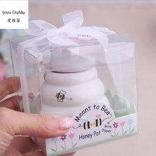 Bee Keramik Honig Topf 10 teile/los hochzeit braut dusche favor geschenke favor de la boda