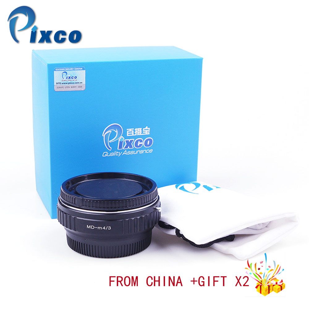 Pixco Speed Booster Focal Reducer Lens Adapter Suit For Minolta MD Lens to Suit for Micro Four Thirds 4/3 Camera Dropshipping цена и фото