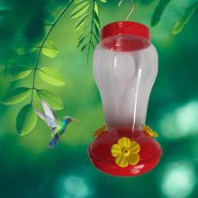 Новинка,, пластиковая бутылочка для подачи воды для птиц, подвесная Кормушка Для Колибри, для сада, для улицы, пластиковый цветок, железный крючок, кормушка для птиц