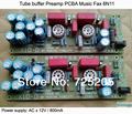 Tube Buffer Preamp PCBA Music Fidelity 6N11 No Gain AC12V 800ma Power Supply Sweet Natural Taste DIY Free Shipping