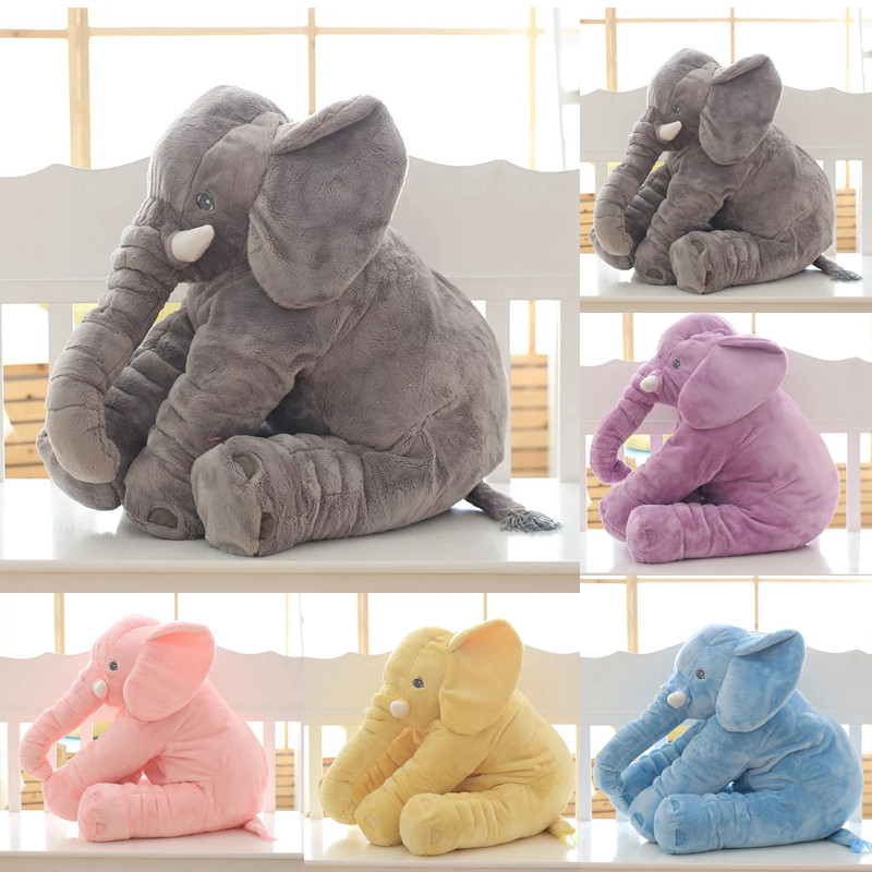 1PC 40/60cm Infant Soft Appease Elephant Playmate Calm Doll Baby Appease Toys Elephant Pillow Plush Toys Stuffed Doll цена
