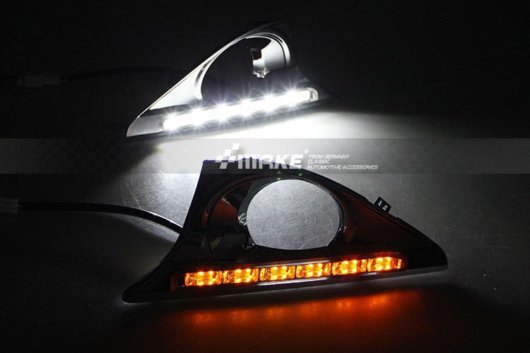 free shipping, for toyota Camry 2011-13 LED DRL daytime running light lamp top quality super bright with yellow turn signal camry mirror lamp 2006 2007 2008 2009 2011 camry fog light free ship led camry turn light camry review mirror camry side light