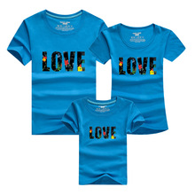 Cotton LOVE Mother Kids Sets 2016 Men T Shirt for Family Style Sport T-shirt Homme Skate Tshirt Harajuku Polera Matching Clothes