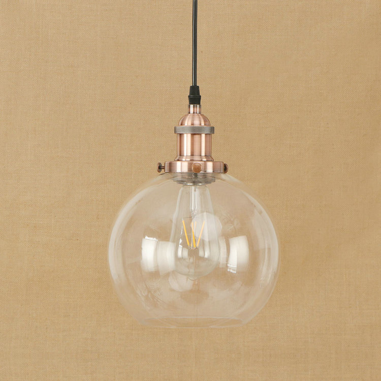 IWHD American Style LED Pendant Lights Glass Ball Vintage Lamp Iron Retro Industrial Pendant Light Fixtures e27 220V For Decor iwhd loft style creative retro wheels droplight edison industrial vintage pendant light fixtures iron led hanging lamp lighting
