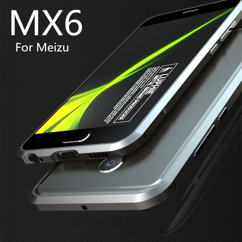 "imágenes para Para Fundas Meizu MX6 caja de Parachoques Protector de Parachoques de aluminio de Lujo de lujo Ultra Delgada Para Meizu M685 MX6 5.5"""