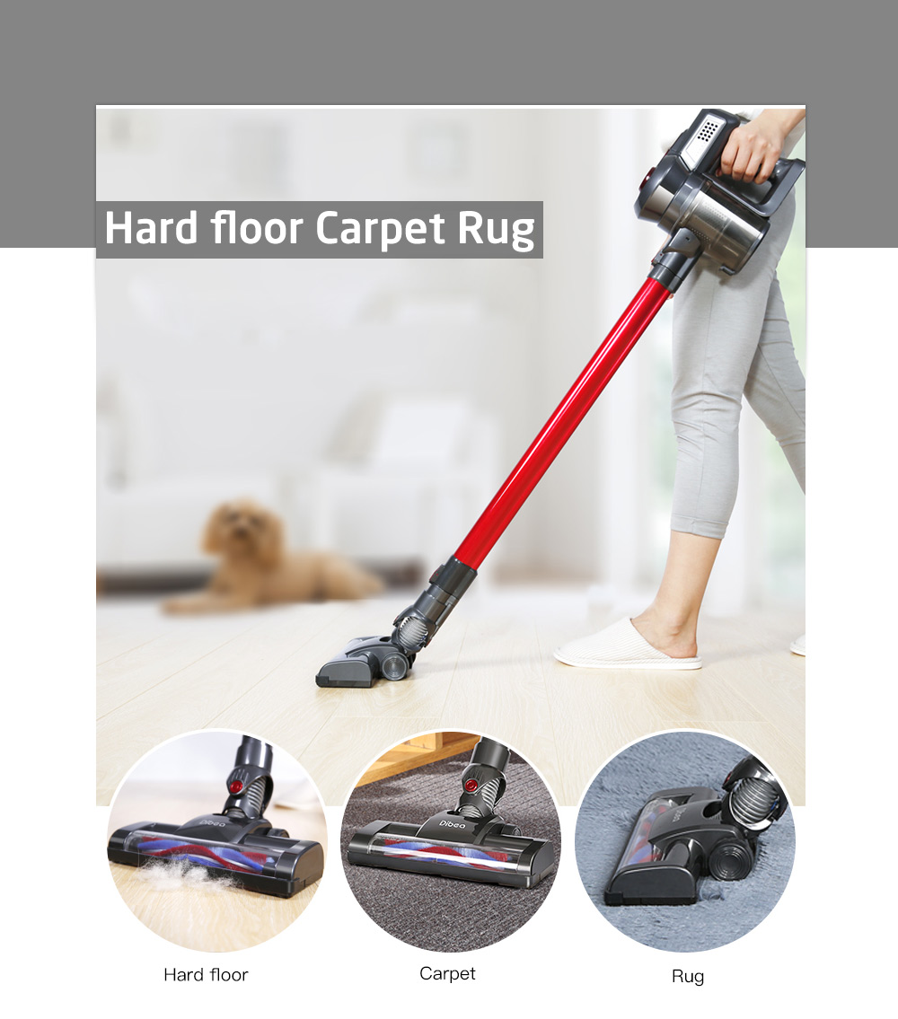 Dibea C17 New Cordless Stick font b Vacuum b font Cleaner Handheld Dust Collector Household Aspirator