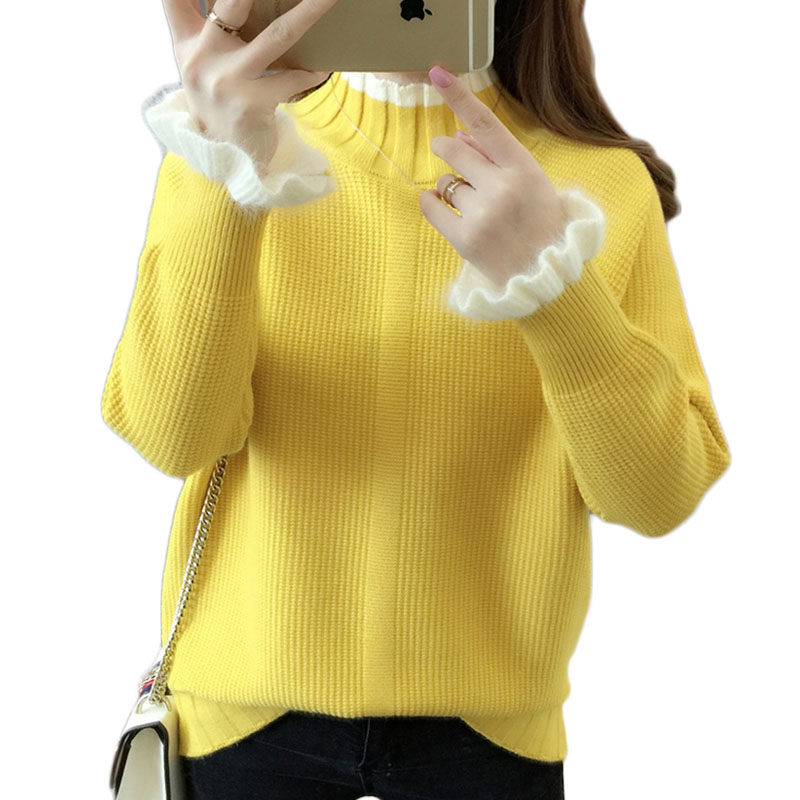 Long Sleeve Knitted Top Sweater Women Winter Sweater Turtle Neck Pullover 2019 New Arrival Strech Knitwear Jumper Wholesale Pull