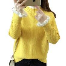 Long Sleeve Knitted Top Sweater Women Winter Sweate