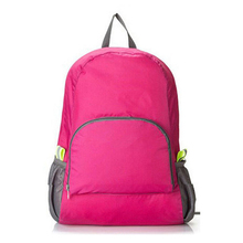 Lightweight Foldable Waterproof Nylon Women Men Skin Pack Backpack 20L Travel Outdoor Sports Camping Hiking Bag Rucksack(rose)