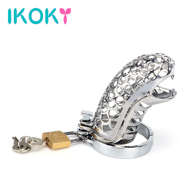 IKOKY Penis Rings Snake Totem Sex Toys for Men Male Cock Rings Cock Cage Male Chastity Device Chastity Lock Belt