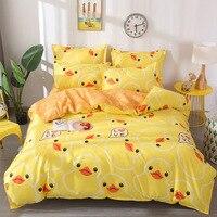yellow duck bedding set luxury pink rabbit kids Bedding lines blue giraffe duvet cover set Pillowcase  Comforter bedding sets
