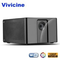 Vivicine Full HD 1080 P проектор J20, Android Wi-Fi светодиодный Проектор для домашнего кинотеатра, HDMI ПК USB видео игры мобильный Proyector