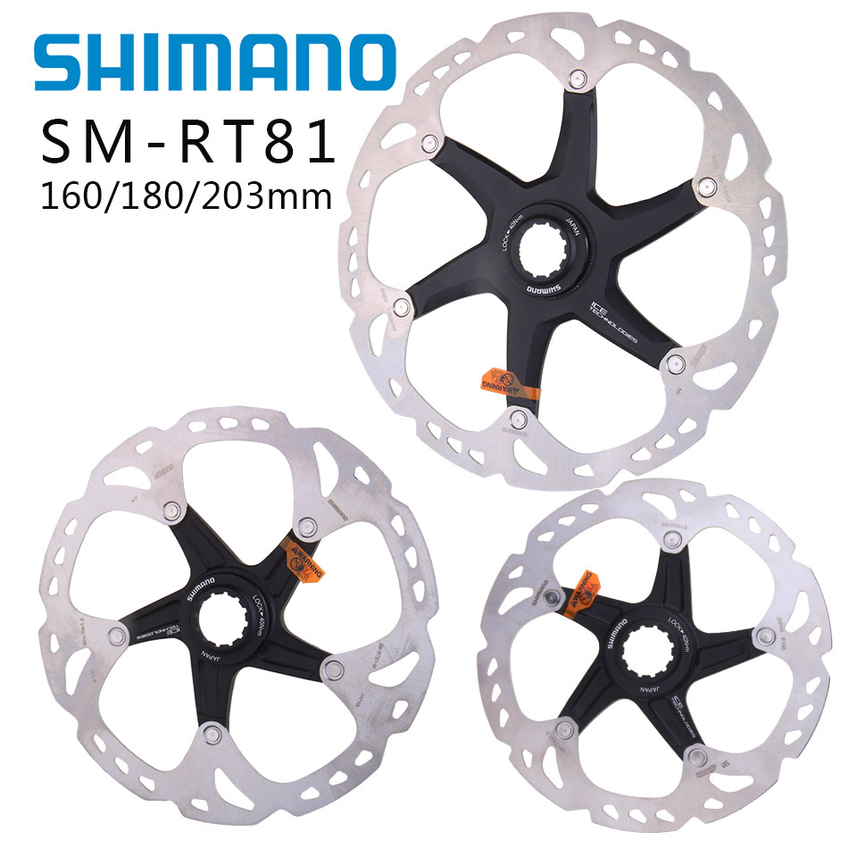 NEW Shimano Deore XT SM-RT81 Bicycle Disc Brake Centerlock Rotor Ice-Tech 180mm