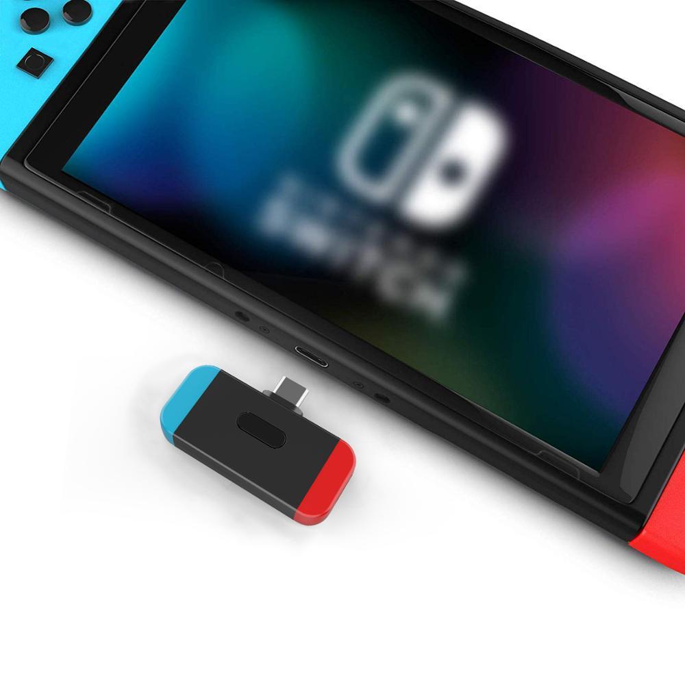 Dual Link Bluetooth 5.0 aptX Low Latency USB Type C Audio Transmitter Wireless Adapter for Nintendo Switch PC Gaming Headphone