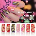 Nail Wraps 108 PCS Gold 3D Nail Stickers Convenient Decration Nail Tools