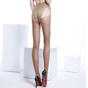 Image 4 - (6 ペア/パック) 女性の 40 デニールコア 紡績シルク超薄型ストッキングセクシーなとファッションビキニ蝶チャームタイツ