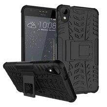 Дело Heavy Duty Броня Противоударный Гибридный Жесткий Силиконовый Прочная Резиновая Крышка телефон Случае для HTC One A9 HTC Desire 728 530 828 825