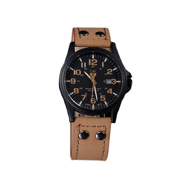 Leather Strap Sport Watch