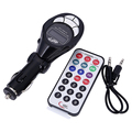Hot High Quality Fashion Black Car MP3 Player FM Transmitter USB Pen Drive For iPod  Free Shipping