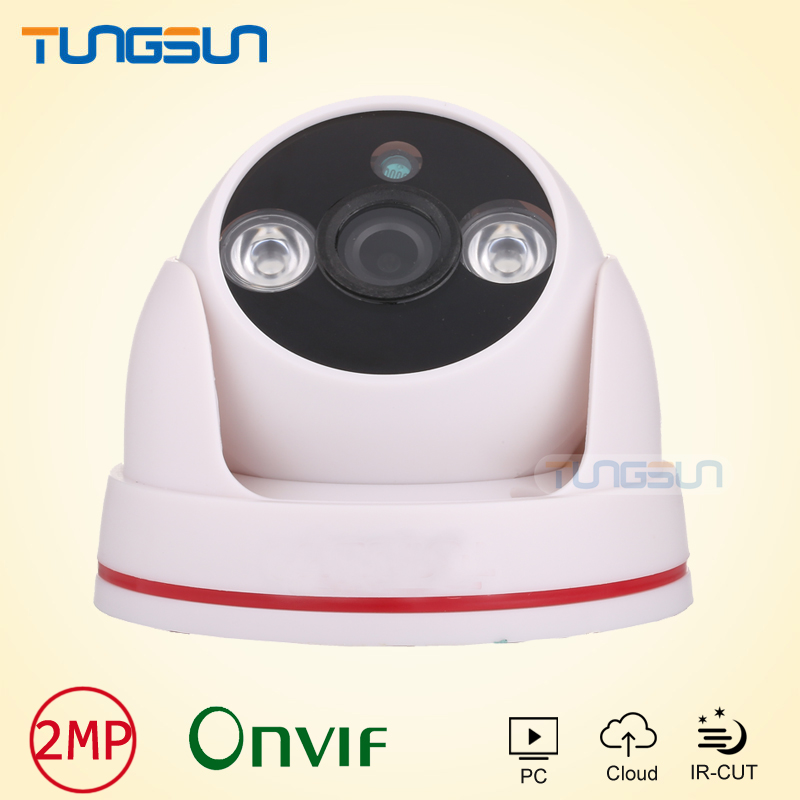 New 2mp HD IP Camera 1080p Security indoor white ABS Shell Dome Surveillance camera ip p2p CCTV IR Array LED Onvif WebCam ipcam 4pcs lot 960p indoor night version ir dome camera 4 in1 camera 3 6mm lens p2p onvif abs plastic housing