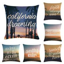 English + rural scenery HomerDecor Cushion Cover Throw Pillowcase Pillow  Covers 45 * 45cm Sofa Seat Decorative