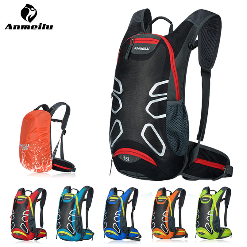 Anmeilu Outdoor Bicycle Backpack Waterproof Nylon Breathable Mountain Road Bike Bag 15L Reflective Cycling Backpack Mochila рюкзак waterproof nylon backpack 10 travelbag mochila aimi919