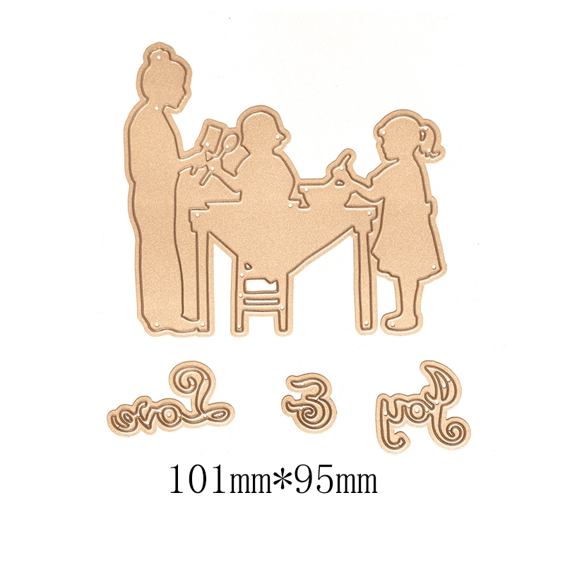 Metal Cutting Dies for Scrapbooking Human Figure Dinner Time New 2019 Cutting Embossing Stencils Paper Craft Die in Cutting Dies from Home Garden