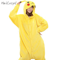 Pokemon Onesies Pikachu Kigurumi Anime Cosplay Costumes Women Pajamas Cartoon PIKACHU Costumes Soft Carnival Party Funny
