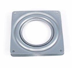 Turntable Rolamento 4 Quadrado Rotativo Placa Giratória Plataforma Giratória do Metal Roda de Peças De Mobiliário Mesa de Rolamento