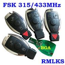 Clé télécommande intelligente, 315/433MHz, pour voiture Mercedes Benz 2000 +, Type BGA, NEC, MB avec lame Emeregcny