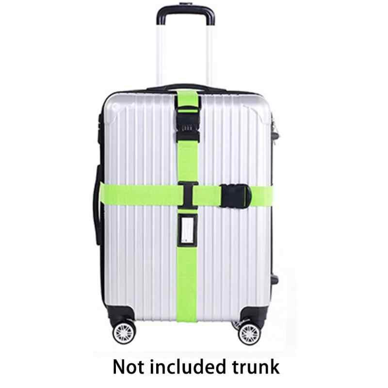 fd221fab58a1 Багажный ремень кросс-ремень упаковка Регулируемый Дорожный чемодан нейлон  3 цифры Пароль замок Пряжка ремень