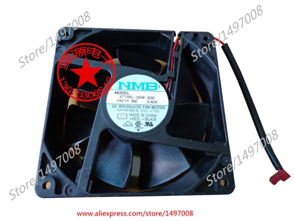 NMB-MAT 4715KL-05W-B30, P31 DC 24V 0.40A 120X120X38mm Server Square fan sw 05w