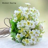 Romantic Green Artificial Flowers Wedding Bouquet 2018 Garden Bridal Bridesmaid Bouquet Wedding Accessories Bouquet De Mariage