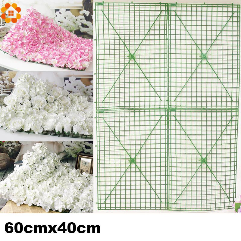 60x40cm Large Size Plastic Flower Row Flowers Bent Sub Rack Wedding Supplies Wall Arches For Decoration In Artificial Dried