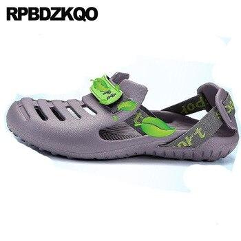 Sandalias De Gelatina Para Adultos   Agua Moda Caucho Casual Suave Punta Cerrada Zapatos Impermeable Diseñador Gelatina Playa Plano Sandalias Para Hombre 2018 Verano Al Aire Libre Hombres