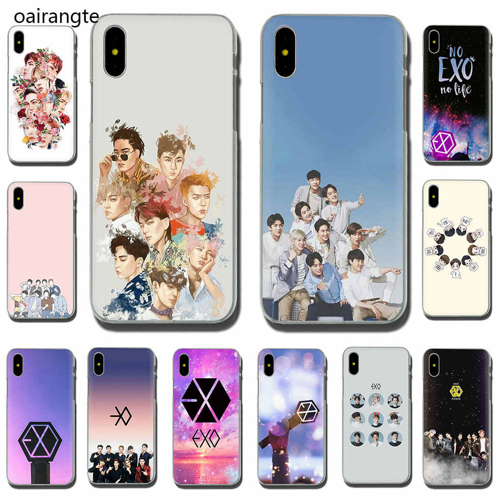 EXO band k-pop kpop Hard phone cover case for iPhone 5 5S 6 6S Plus 7 8 Plus X XS XR XS Max