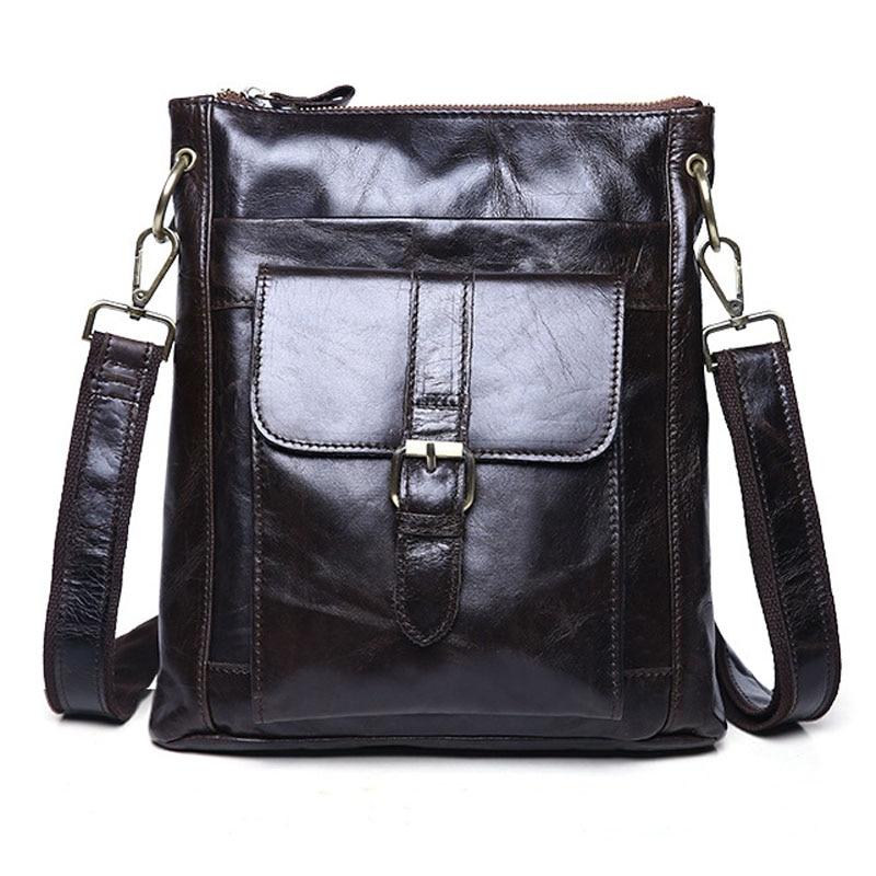 100% Genuine Leather Men Bag Shoulder Bags Men Messenger Bags Crossbody Bag Mens Leather Handbag Brand 2017 Skin Wholesale