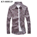 Luxury Brand Fashion Men Floral Shirts Cotton Casual Long sleeved Shirts hombre Camisas Vintage Men Dress Shirt Plus Size 5XL