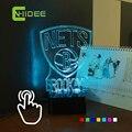 Mudança de 7 cores do bebê , além de LED Lampara NBA Aavidad Net da equipe de basquete Desk Lamp 3D casa iluminação USB luzes da noite de toque