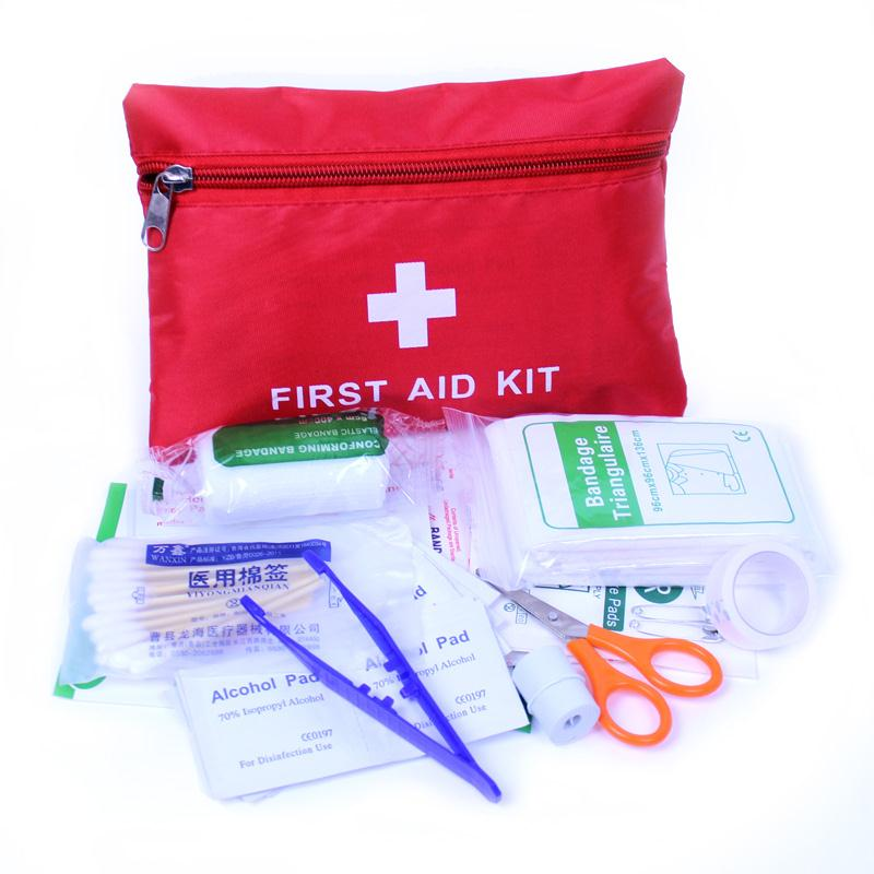 8pcs First Aid Kit Bag Outdoor Camping Sport Emergency Medical Bag Health Care Survival Kit