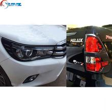 black kits for toyota hilux 2016 accessories ABS black decorative trim for toyota hilux 2015 hilux