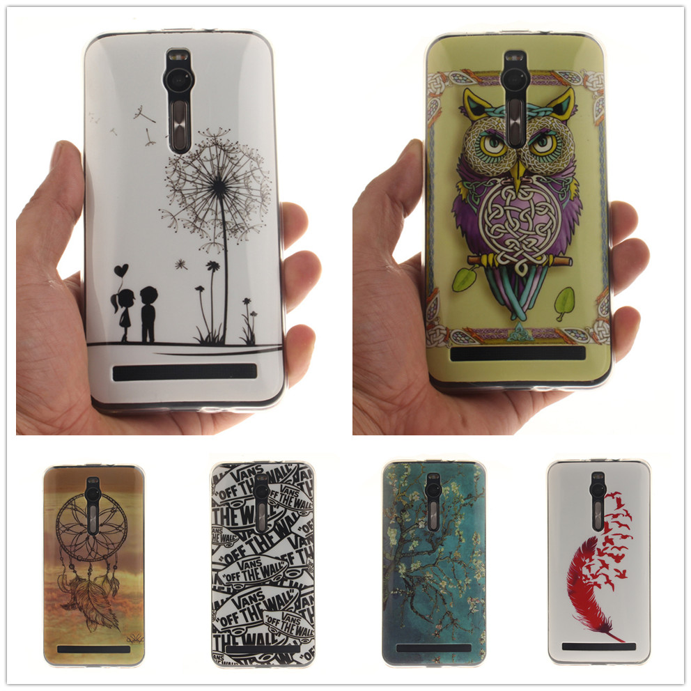 Fashion Painted Pattern Tpu Silicone Soft Sfor Asus Zenfone 2 Ze551ml 16gb Case For Cell Phone Back Cover