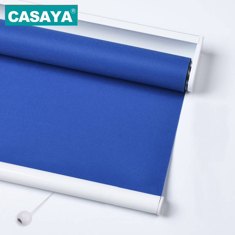 CASAYA Child Safety Roller Blinds High Quality 100 Blackout Fabric Solid Color Automatic Spring Cordless window
