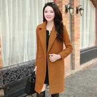 2016 New Fashion Autumn Winter Coat Women Warm Cotton Padded Wool Coat Women S Cashmere Coat