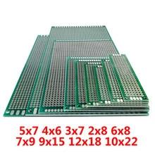 FR4 Printplaat 5x7 4x6 3x7 2x8 6x8 7x9 9x15 12x18 10x22 cm Double Side Prototype Diy Universal Printed Circuit PCB Board