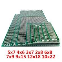 FR4 devre 5x7 4x6 3x7 2x8 6x8 7x9 9x15 12x18 10x22 cm Çift Yan Prototip Diy Evrensel Baskılı Devre PCB kartı