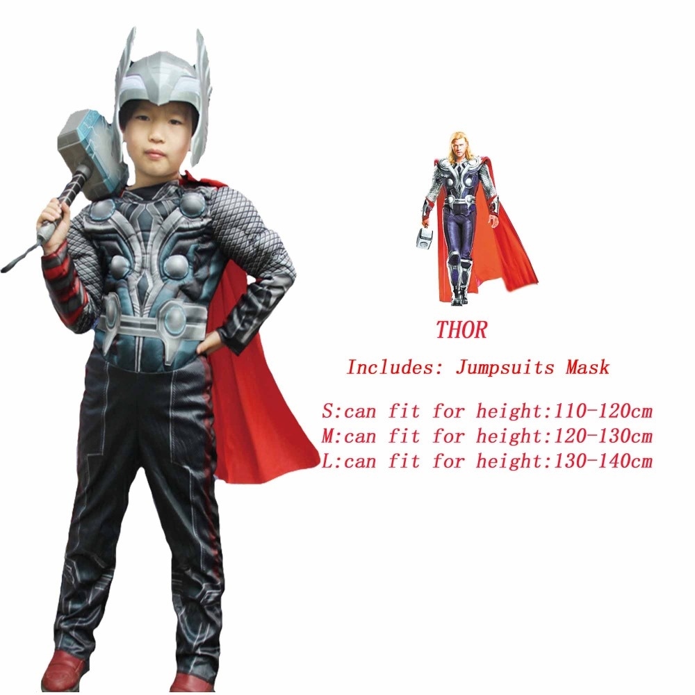 Image 3 - Spider Superman Iron Man Cosplay Costume for Boys Carnival Halloween Costume for Kids Star Wars Deadpool Thor Ant man PantherMovie & TV costumes   -