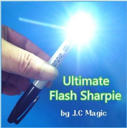 Ultime Flash Sharpie par JC Magie, Magie de Scène, Illusion, Gimmick, Props, Accessoires, Mentalisme, Magia Trick, Coin Vanishing