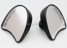 Black Batwing Fairing Mount rear view Mirrors For Harley Tri Street Glide Electra Glide FLHT FLHX Ultra Classic